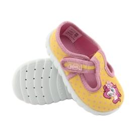 Încălțăminte pentru copii Befado 535P001 roz galben 3