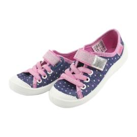 Încălțăminte pentru copii Befado 251X135 albastru marin roz gri 4