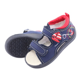 Sandale pentru copii American Club bleumarin TEN36 roșu albastru marin 5