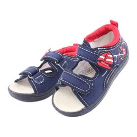 Sandale pentru copii American Club bleumarin TEN36 roșu albastru marin 3