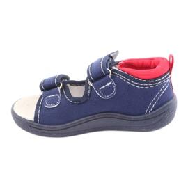 Sandale pentru copii American Club bleumarin TEN36 roșu albastru marin 2