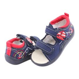 Sandale pentru copii American Club bleumarin TEN36 roșu albastru marin 4