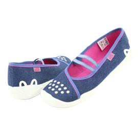 Încălțăminte pentru copii Befado 116Y253 albastru marin albastru roz 4
