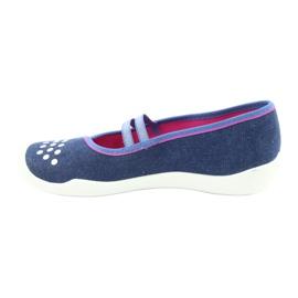 Încălțăminte pentru copii Befado 116Y253 albastru marin albastru roz 2