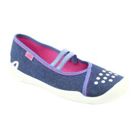 Încălțăminte pentru copii Befado 116Y253 albastru marin albastru roz 1