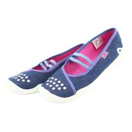 Încălțăminte pentru copii Befado 116Y253 albastru marin albastru roz 3