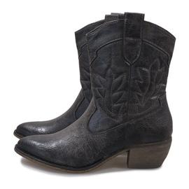 Cizme de cowgirl gri 10601-1 4