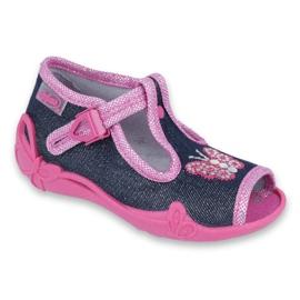 Încălțăminte pentru copii Befado 213P112 roz gri multicolor 1