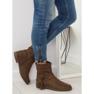 Pantofi femei bruni 4169 Khaki imagine 5