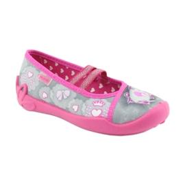 Încălțăminte pentru copii Befado 116X248 roz gri 2