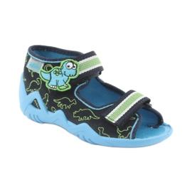 Încălțăminte pentru copii Befado verde 250P088 albastru marin albastru 1