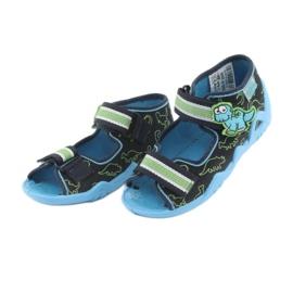Încălțăminte pentru copii Befado verde 250P088 albastru marin albastru 3