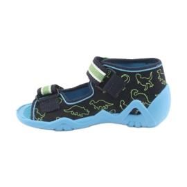 Încălțăminte pentru copii Befado verde 250P088 albastru marin albastru 2