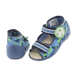 Pantofi pentru copii Befado galbeni 350P002 albastru marin albastru verde 4