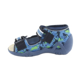 Pantofi pentru copii Befado galbeni 350P002 albastru marin albastru verde 2
