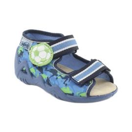 Pantofi pentru copii Befado galbeni 350P002 albastru marin albastru verde 1