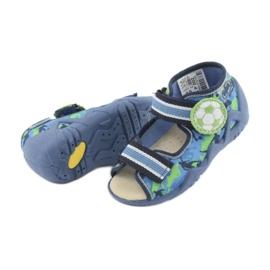 Pantofi pentru copii Befado galbeni 350P002 albastru marin albastru verde 5