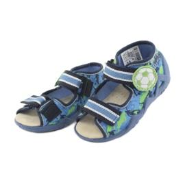 Pantofi pentru copii Befado galbeni 350P002 albastru marin albastru verde 3