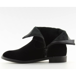 Flat cizme negre MB188-266 Negru 2