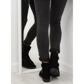 Flat cizme negre MB188-266 Negru 3
