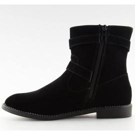 Flat cizme negre MB188-266 Negru 5
