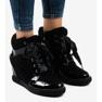 Negru Adidași la modă cu pană neagră KLS-109-3 imagine 1