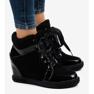 Negru Adidași la modă cu pană neagră KLS-109-3 imagine 2
