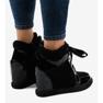 Negru Adidași la modă cu pană neagră KLS-109-3 imagine 3