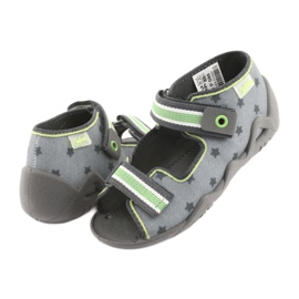 Pantofi pentru copii Befado galbeni 250P086 gri verde 4