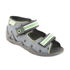 Pantofi pentru copii Befado galbeni 250P086 gri verde 1