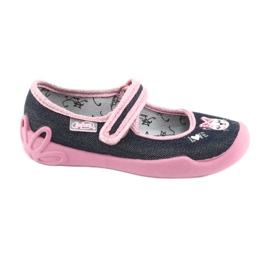 Încălțăminte pentru copii Befado 114X352 albastru marin roz 1