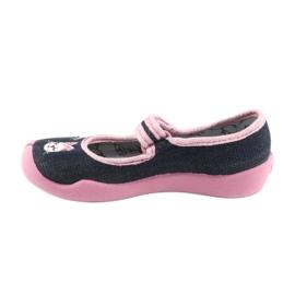 Încălțăminte pentru copii Befado 114X352 albastru marin roz 3