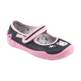 Încălțăminte pentru copii Befado 114X352 albastru marin roz 2