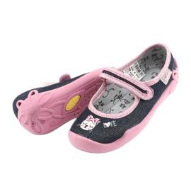 Încălțăminte pentru copii Befado 114X352 albastru marin roz 5