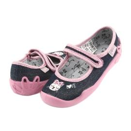 Încălțăminte pentru copii Befado 114X352 albastru marin roz gri 4