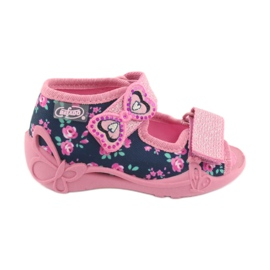 Pantofi pentru copii Befado galbeni 242P094 albastru marin roz 1