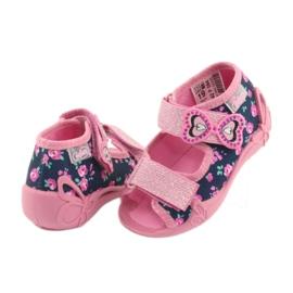 Pantofi pentru copii Befado galbeni 242P094 albastru marin roz 3