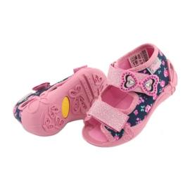 Pantofi pentru copii Befado galbeni 242P094 albastru marin roz 4