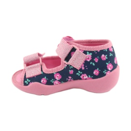 Pantofi pentru copii Befado galbeni 242P094 albastru marin roz 2