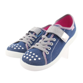 Încălțăminte pentru copii Befado 251Q109 albastru roz gri 3