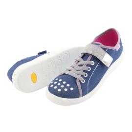 Încălțăminte pentru copii Befado 251Q109 albastru roz gri 4