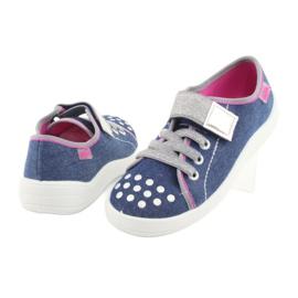 Pantofi pentru copii Befado 251Y109 blugi albastru marin roz gri 4