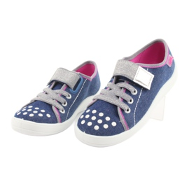 Pantofi pentru copii Befado 251Y109 blugi albastru marin roz gri 3