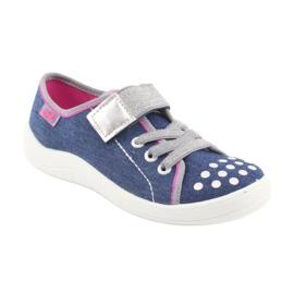 Pantofi pentru copii Befado 251Y109 blugi albastru marin roz gri 1