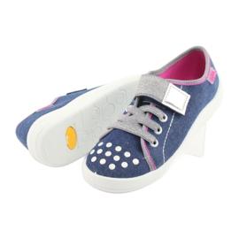 Pantofi pentru copii Befado 251Y109 blugi albastru marin roz gri 5