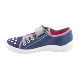 Pantofi pentru copii Befado 251Y109 blugi albastru marin roz gri 2