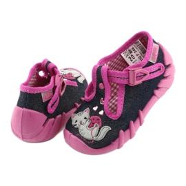 Pantofi pentru copii Befado 110P348 bleumarin albastru marin multicolor roz 3