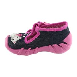 Pantofi pentru copii Befado 110P348 bleumarin albastru marin multicolor roz 2
