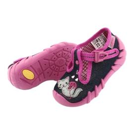 Pantofi pentru copii Befado 110P348 bleumarin albastru marin multicolor roz 4