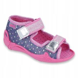 Încălțăminte pentru copii Befado 242P093 albastru marin roz 1